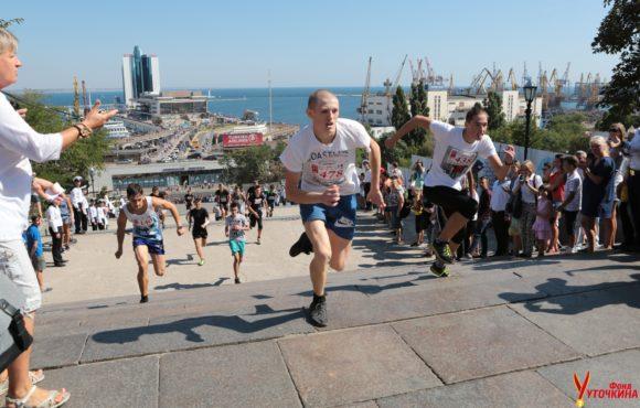 В Одессе состоялся ежегодный забег «Вверх по Потемкинской»